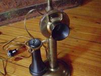 I AM SELLING A WESTERN ELECTRIC CANDLESTICK BRASS PHONE