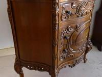 Marble Top COMMODE Break Front This Commode has three