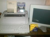 Right here is a Vintage Brother WP3600D Word Processor