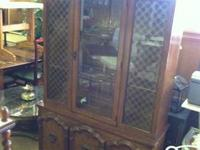 "Vintage Broyhill Breakfront $85 76""H x 46""W x 16""D 2"