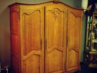 Beautiful antique strong oak French Armoire available.