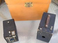 Vintage camera lot Two 1920s box cameras and one