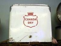 Vintage Canada Dry Cooler Metal vintage cooler. White