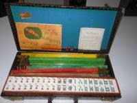 Beautiful 1971 Cardinal Mahjong Set Comes with 162
