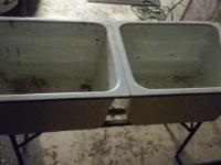 "VINTAGE Cast Iron Bath Tub 54"" x 31"" $100 VINTAGE Cast"