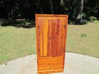 PRICE LOWERED!! Vintage cedar wardrobe / closet.  2