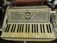 Vintage Cellini Valletta Accordion with Case & Music