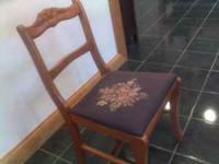 Nice chair from Covert Furniture, beautiful embroidered