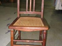 "Vintage Chair with wicker design seat - 160. 18"" (Seat"