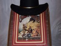 Vintage Charlie Horse 1 cowboy hat. Black fur felt. In