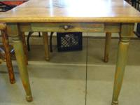 Vintage Checker Board Game Table 35 1/2x35x29 1/2