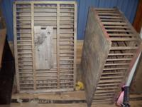 Vintage chicken cages used to transport 250.00 for both