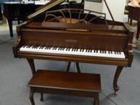 "Classic ""Art Case"" Chickering Queen Anne infant grand"