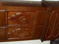 Nice thick heavy solid pine vintage chifforobe,