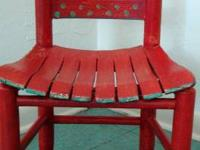 Vintage child's chair, solid wood, very sturdy and