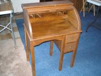 Antique-Vintage Child's Roll top desk - Manufactured by