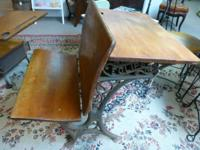 For Sale. Antique Youngster's School Desk with actors