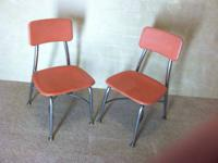 One pair of vintage children's chairs from the 70's.
