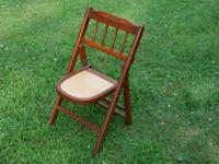 VINTAGE. CHILDS. FOLDING. WOODEN. CHAIR.   Classic