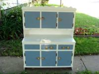 this hand made vintage, children's cabinet is so cute.