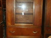 Vintage China Cabinet 1 glass door with three shelves