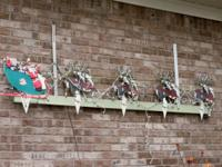 VINTAGE CHRISTMAS DECORATION OUTDOOR SANTA & REINDEER