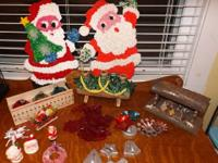 Lot of Vintage Christmas Decorations  Vintage shiny
