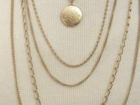 Citation 5-strand Gold Tone Chain Necklace with Locket