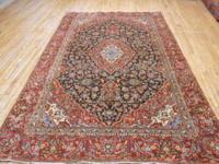 # 54644 6' 4 x 9' 9 pure wool hand knotted in Iran