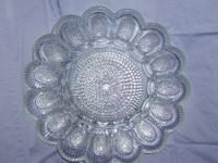 I have for sale an Indiana clear glass egg plate. This