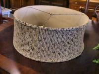 "Vintage Cloth Drum Lamp Shade measures 18 x 8""    Get"