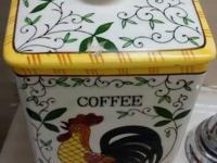 Vintage Cofee . Canister is by Ucagco PY The Pattern is