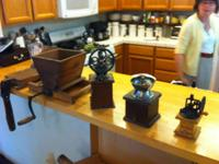 I have 3 ANTIQUE coffee grinders and some other type of