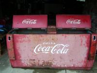 yes i have a large vintage coke cooler/with compressor,