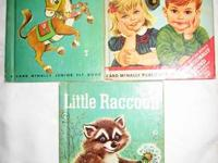 Pictured are vintage children's books that are from the