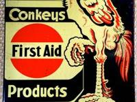 This original sign says Conkeys First Aid Products,