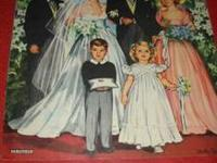 vintage In Old New York Colonial paper dolls , has two