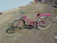 "hace vintage columbia 26"" girls bike ..with front"