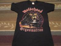 Motorhead tour 1986 Orgasmatron tshirt. This is a