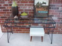 "Vintage Console / Sofa Table - Very Solid 3/8"" in Thick"