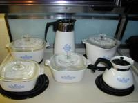I have for sale vintage Corning-ware, 3 casserole