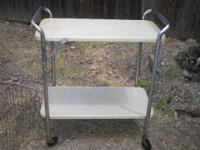 Vintage retro costco kitchen cart. Has a bit of surface