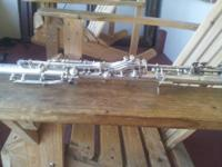 Vintage cundy bettony, three star silver clarinet,