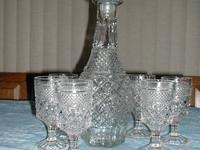 This is a Vintage Beautiful Cut Crystal Clear Glass