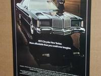"For sale is a vintage 1976 ad Advertising a ""1977"