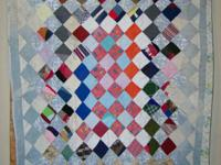 "We have a Vintage Diamond Square Baby Quilt 51"" Long by"
