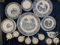 Homer Laughlin USA Dish Set. Done in the lovely blue