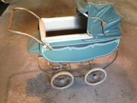 Vintage 1950s Doll Carriage by Thayer; overall in good