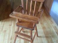 Vintage doll high chair from the 1960's. I am the