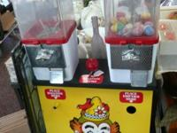 Amazing rare double circus / fair vending machine. An